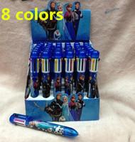 8 colors 36pcs Frozen princess cartoon Kawaii high quality ball  ballpoint pen stationery office & school supplies creative gift