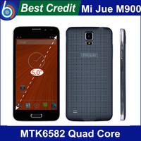 "MIJUE M900 Android 4.4 OS MTK6582 Quad Core 1.3GHz 5.0"" Screen 1GB+4GB 3G GPS Smartphone Camera 13.0MP+8.0MP Black white"