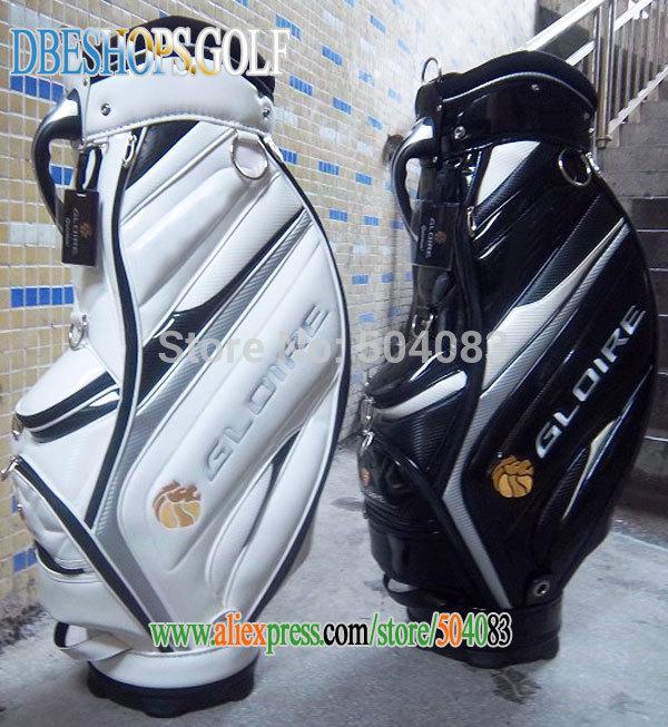 tm gl oire Personal golfbag schwarze und weiße farbe golf cart bag mit tasche decken golfschläger tasche ems versandkostenfrei