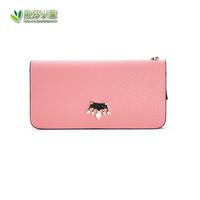 2014 Seconds Kill Sale Women Solid Genuine Leather Women's Zipper Wallet Long Design Large Capacity Portable Fashion Trend
