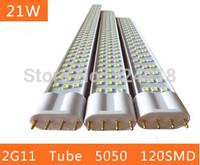 18W 20w led tube lighting 2G11 4pin  220V Indoor lighting 5050 120SMD 540mm 54CM Lamp 85V~265V warranty 2 years CE RoHS x 10 PCS