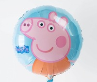 10 pcs peppa pig Balloons inflatable toys for Kids birthday party decorations