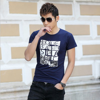 Free shipping in the summer of 2014 the new men's short sleeve T-shirt fashion T-shirt big size