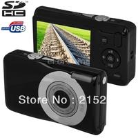 "Portable 2.7"" LCD Screen Digital camera, 15.0MP Sensor 5X Optical zoom 720P & 30FPS mini card camera, HD 720P digital camera"