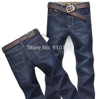 2014 new brand men's jeans  fashion men's straight pants fashion denim trousers size 29-40