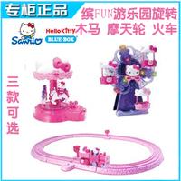 Hello Kitty toy  carousel amusement park ferris wheel train Building blocks electronic toys