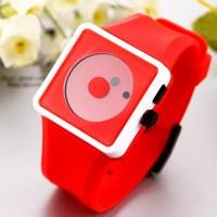 Casual Watch 2014 Sports watch Fashion women Smile Dot hours Quartz watches Unisex men Silicone Wristwatches