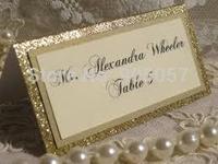 gold/silver metal name card