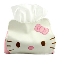 Free Shipping Hello Kitty PU Leather Tissue Extraction/Tissue Box/Table Decoration&Accessory/Tissue Pumping Xmas Gift Retail