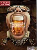 Beer in the Mouth New  High Definition Famous Cartoon People canvas art poster for for Pub   -  1pc/lot 20x 25cm 6 designs
