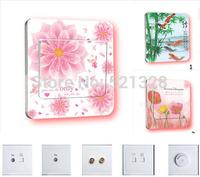 HOT 24pcs / lot  free shipping creative home furnishing supplies decorative wall new switch sticker F 413