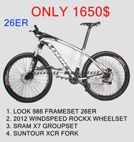 26er look 986 mountain complete carbon mountain bicycle mtb bike 26 carbon mtb bike frame bb30 cheap carbon bikes complete sale