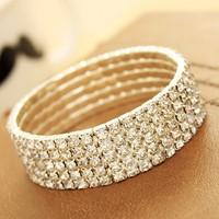 Super rhinestone women bracelet bangles free shipping