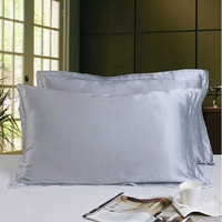 100% Mulberry silk pillowcases champagne silvery  colors Eco- Frienly 19 mm 16.5 mm silk pillow case  75 X 48 cm small wholesale