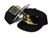 Hot Brand Fashion Snapback For Men Women GET OUT Letter Metal Harajuku Baseball Caps Adjustable Hat Boy London Girl SCX163-M0322