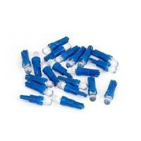 20 Pcs T5 Wedge Round Head Blue LED Side Marker Lights Bulbs  12V for Car