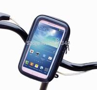 new 2014 Bike Bicycle Waterproof Phone Zipper Case Bag Pouch Handlebar Mount Holder for Samsung Galaxy S3 I9300 S4 I9500