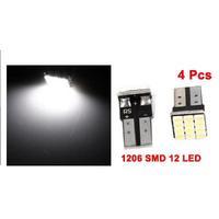 T10 W5W Canbus White 1206 12-SMD LED Car Light lamp Bulbs 12V 4pcs