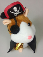 2014 new electronic pets, talking hamster walking pirates, Russian hamster, children's dialogue toys, educational interactive