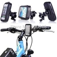 Bike Bicycle Handlebar Mount Holder Waterproof Case Bag for Samsung Galaxy Mega I9200 I9150 HTC One Max T6 Nokia Lumia 1520