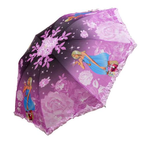 Hot Sale Ladies Manual Umbrella Frozen Folding Children Umbrella Ub-001(China (Mainland))