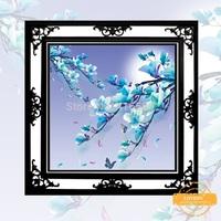 3D DIY Cross Stitch Plum Fragrance 5D diamond Painting Decorative diamond embroidery Round Rhinestone painting 51 * 51CM