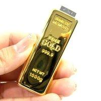 Promotion!!20PCS/Lot 100% Full Capacity 8GB 16GB Golden USB Flash Drive Memory stick Pen Drive Free Shipping
