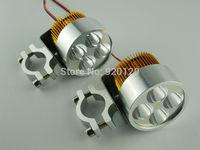 Gold 12V-85V Universal Motorcycle E-bike 12W LED Modified Headlight Lamp