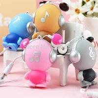 Robot Automatic Retractable Earphones Cartoon Music Earphones Charm in Ear Earphones, Free shipping