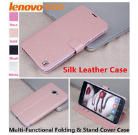 Free Shipping!!! Ultra Slim Multi-Functional 6.0 inch Lenovo S930 Silk Leather Folding& Stand Cover Case.   Case For Lenovo S930