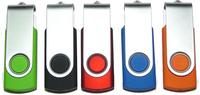 Promotion!!20pcs/lot USB flash drive Swivel Portable USB 8GB 16GB Memory stick Flashdrives Pen / Thumb Drive Free shipping