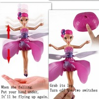 Electronic Infrared  Induction Toy Flying Fairy Dolls Control Flying Angel Baby Dolls for Girls Remote Control Toys