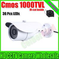Free shipping Top Quality ! Megapixel HD Cmos 1000TVL Outdoor Waterproof Video Surveillance Camera Night Vision IR CCTV Security