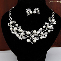 set necklace earrings fashion jewelry top elegant style statement wedding jewelry pearls high quality