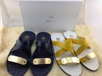Brand new fashion design gold Medusa criminal indoor shoes men's casual sandals, slippers gg slippers