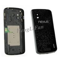 Black Original Back Housing Rear Battery Door Cover For LG Google Nexus 4 E960 Free Shipping by HK Post