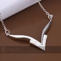 Fashion 925 Sterling silver crystal necklace + gift box CN423 necklace women necklaces pendants 2014