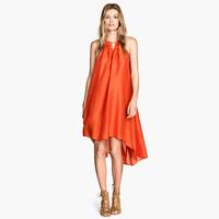 Dovetail swing dress luster gold decoration neck sleeveless one-piece dress summer dresses women 2014