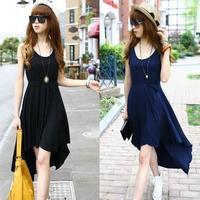 New arrival women dresses. spring Korean lady clothes wear. sexy black,blue size M,L,XL dress party dress.Bohemia dress ds1008