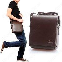 Fashion Kangaroo Mens Leather Crossbody Shoulder Messenger Bag Briefcase 2 Colors 2 Versions Wholesale Handbag 05OD