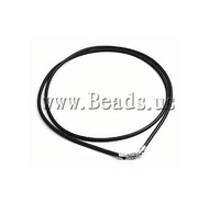 Free shipping!!!Fashion Necklace Cord,fantasy women jewelry, Leather, sterling silver lobster clasp, black, 2mm, Length:16 Inch