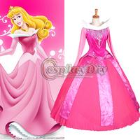 Free Shipping Custom-made Sleeping Beauty Princess Aurora Dress Cosplay Princess Costume