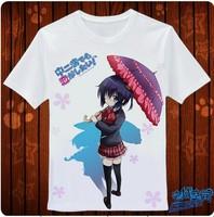2014 New chuunibyou demo koi ga shitai  LOGO classic Anime Products T-shirt Personality customization High quality Free Shipping