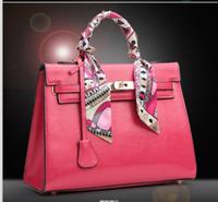 Free shipping 2014 fashion women handbags brand high quality genuine leather totes bags L0832