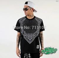 new 2014 tops & tees men boys shirts sports clothing big loose diamond head stars dollar brand shirt beach party fashion hiphop