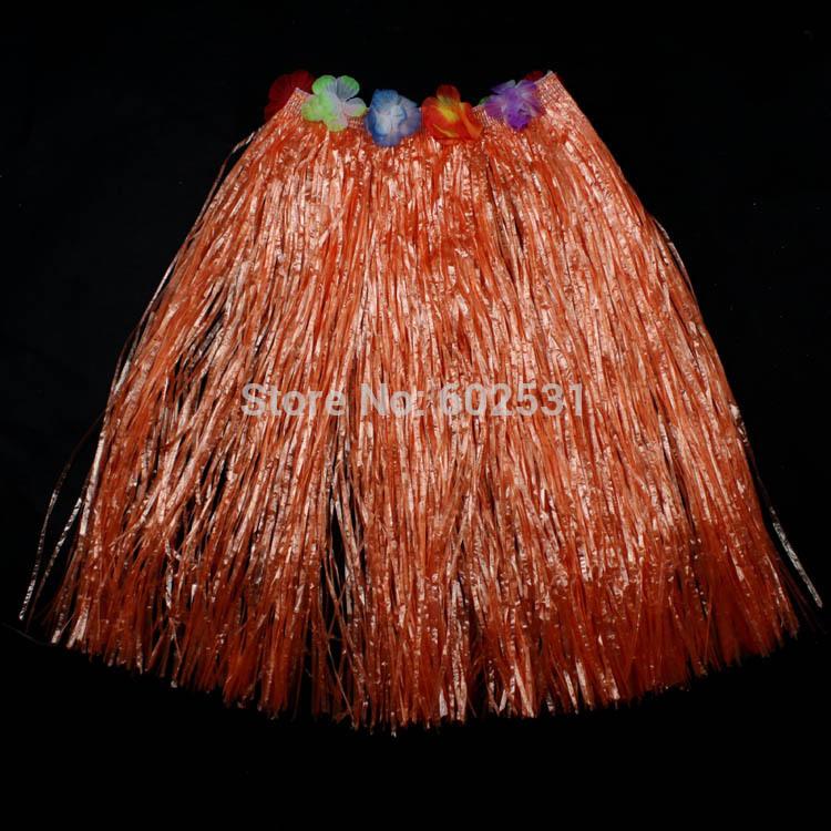 Elástico na cintura dança grama pvc borlas saia havaiano hula desfile de moda vestido da dança crianças terno 60 cm - 160 g(China (Mainland))