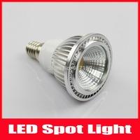 5pcs/Lot E14 3W COB LED Spot Light Dimmable Bulbs Lamp Warm White/Cool White High Brightness 100-240V Free Shipping