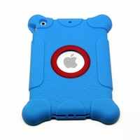 Protective Shockproof Silicone Case For iPad Mini 1/2 Drop Proof Case Cover For Home Childred Kids with Free Shipping