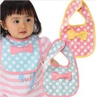 New Arrival Wholesale 20pcs/lot Newborn Baby Bib Infant Saliva Pure Cotton Soft Towels Baby Bib Two layer Baby Wear Burp Cloths
