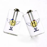 """Free ship! 100pcs/lot """"smile angle"""" pattern oil perfume pendant vial bottle  rice art pendant screw cap"""